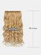 6 цветов длинные вьющиеся Волосы удлинители с пятью зажимами высокотемпературное волокно Парик шт. - #06