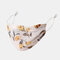 Women Adjustable Printed Chiffon Face Mask Breathable Ethnic Floral Mask - 02