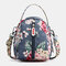 Women Nylon Waterproof Print Casual Shoulder Bag Handbag - #04