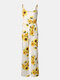 Mommy And Me Matching Outfit Sunflower Print Sleeveless Casual Jumpsuit - white1