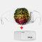 Tiger/Lion Pattern Polyester Fashion Dustproof Mask With 7 Mask Gaskets - #02