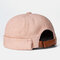 Men & Women Retro Corduroy Solid Color Melon Leather Hat For Men And Women In Autumn And Winter Warm Landlord Hat Casual Curled Sailor Hat - Pink