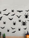 12/24/48/96 Pcs A Set Halloween 3D Black Spider Bat Wall Stickers DIY Decorative Wall Decal For Halloween Removable Stickers - #03