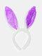 Accessoires de cheveux de femmes de pâques mignon oreilles de lapin coiffe enfants bandeau - violet