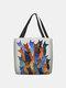 Frauen Colorful Viele Katzen Muster Druck Umhängetasche Handtasche Tote - Blau
