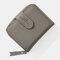 Women Solid 7 Card Slots Zipper Wallet - Grey