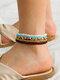 Ethnic Bohemia Rice Beads Colorful Bracelet Anklet Set - Anklet