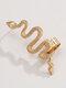 Vintage Alloy Animal Snake-shaped Earrings - Golden(Right)
