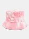 Men & Women Corduroy Tie-dye Double-sided All-match Outdoor Bucket Hat - #01