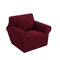 1/2/3 seaters Elastic Universal Sofa Cover Knitted Thicken Stretch Slipcovers for Living Room Couch Cover Armchair Cover - Wine Red