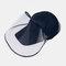 COLLROWN Unisex Lightweight Hat Anti-fog Removable Sun Visor - Navy