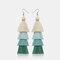 Bohemian Handmade Multi-layer Tassel Earrings Irregular Gradient Tassel Long Earrings - 8