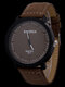 4 Colors Leather Men Vintage Business Watch Decorated Pointer Quartz Watch - Brown Dial Brown Band
