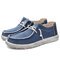 Men Washed Canvas Comfy Moc Toe Low Top Lace Up Casual Shoes