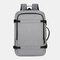 Men Polyester 15.6 Inch USB Charging Anti theft Business Laptop Bag Backpack - Light Grey