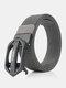Men Nylon 120cm Automatic Buckle Tactical Outdoor Business Jeans Belt - Dark Gray