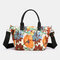 Women Large Capacity Nylon Flowers Printed Handbag Crossbody Bag - #06