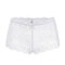 Plus Size See Through Lace Sexy Hollow Mid Waisted Panties - White