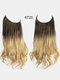 40 Colors Fishing Line Long Curly False Hair Pieces No-Trace Hair Extensions - 35
