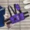 メンズマルチポケットベストタクティカルヒップホップチェストバッグスリングバッグ - 紫