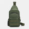 Men Camouflage USB Charging Waterproof Oxford Cloth Travel Sport Riding Shoulder Bag Chest Bag Sling Bag - Army Green