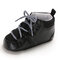 Baby Toddler Shoes Non Slip Soft Lace-up Casual Shoes - Black