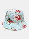 Women & Men Floral Overlay Print Pattern Casual Outdoor Visor Bucket Hat - #05
