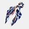 Ponytail Scarf Elastic Hair Rope Hair Bow Ties Scrunchies Hair Bands Flower Print Ribbon Hairbands - 4
