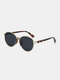 Unisex Metal Narrow Rim Full Frame UV Protection Sunglasses - Black