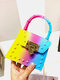 Stylish Pyramid Embellishment Flap Ombre Color Wearable Exquisite Hardware PVC Mini Jelly Coin Bag Crossbody Bag - #01