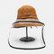 Chapeau de pêcheur anti-éclaboussures Lunettes de protection réversibles Visière pare-soleil amovible - Kaki