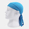 Quick-drying Turban Perspiration Breathable Sunscreen Outdoor Riding Pirate Hat - Blue