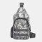 Men Camouflage USB Charging Waterproof Oxford Cloth Travel Sport Riding Shoulder Bag Chest Bag Sling Bag - #03