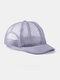 ユニセックスメッシュ通気性調節可能なショートカーブ野球帽 - グレー