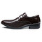 Large Size Men Pure Color Leather Business Formal Dress Shoes - Brown