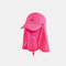 Sun Protection Foldable Cover Face Visor Outdoor Fishing Hat Summer Quick-drying Cap Breathable Hat Baseball Cap - Rose