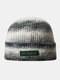 Women & Men Tie-dye Color Gradient Mixed Color Warm Ear Protection Brimless Beanie Knitted Hat - #01