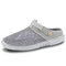 Men Mesh Fabric Breathable Comfy Two-ways Casaul Beach Sandals - Grey