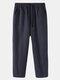 Mens 100% algodón a rayas transpirable casual todos los días Pantalones - azul marino