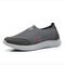 Men Breathable Mesh Fabric Slip-on Casual Walking Shoes - Gray