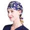 Mujer Sudor caliente Sala de operaciones impresa Enfermera Sombrero Anti-ahumado Chef Sombrero Gorro de trabajo para la higiene de los alimentos