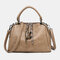 Women Casual Solid Crossbody Bag - Khaki