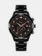 سبيكة غير القابل للصدأ أعمال فولاذية حزام كوارتز Watch تقويم ثنائي العين Watch - #03