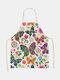 تنظيف بنمط الفراشة Colorful مآزر الطبخ المنزلي مريلة المطبخ للطبخ ارتداء مرايل الكبار من القطن والكتان - #02