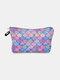 Multifunctional Portable Makeup Bag Fish Scale Women Travel Wash Storage Bag - #01