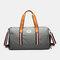 Separate Dry And Wet Gym Bag Woman Man Luggage Bag Travel Bag Portable Leisure Yoga Bag cylinder Bag - Gray1