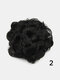 8 Colors Flower Bud Head Short Curly Hair Seven Flowers Drawstring Wig Piece - #01