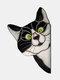 1 PC PVC Cartoon Peeking Cat Dog Cute Home Decoration Self-adhesive Waterproof Window Sticker Wall Sticker - #05