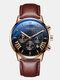 11 Colors Men Business Watch Leather Alloy Mesh Band Calendar Luminous Quartz Watch - #09