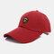 Men Sunscreen Outdoor Fishing Travel Casual Broad Brim Visor Sun Hat Baseball Hat - Red